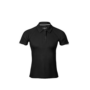 POLO 100% TRANSPIRABLE MUJER TEC-35 BLACK-GREY