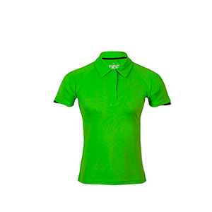 POLO 100% TRANSPIRABLE MUJER TEC-35 LIME-BLACK